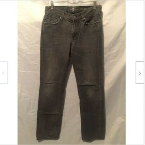 7 For All Mankind Size 31 Black Wash Slimmy Jeans